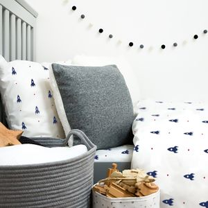 Mini Rocket Bedding Pillowcase - cot bedding