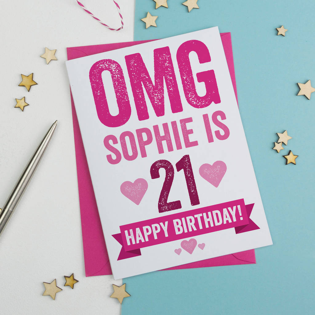 21st birthday card personalised by a is for alphabet – 21 Birthday Card