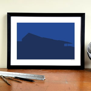 'Old Shed' Minimalist Chelsea Fc Graphic Art Print