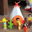 Teepee Wooden Playset