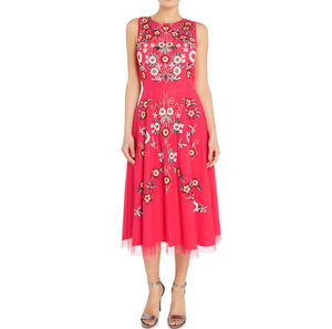 Aylen Embroidered Skater Dress - dresses