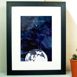 Personalised Universe New Born Print - baby & child sale