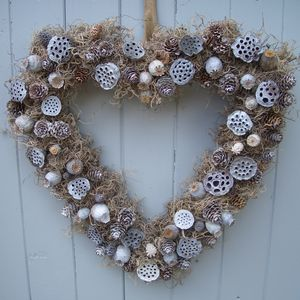 Touch Of Frost Heart Wreath - wreaths