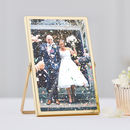 Stylish And Simple Gold Photo Freestanding Frame