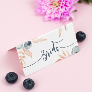 Berry Blush Wedding Place Card - place cards