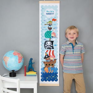 Personalised Pirate Height Chart - height charts