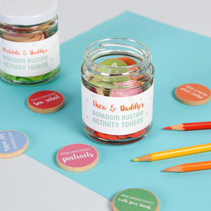 Personalised Daddy And Me Activity Tokens Jar - cards & wrap