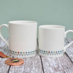 Running Bone China Mug - tableware
