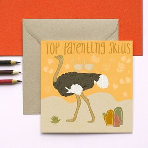 Ostrich Top Parenting Skills Card