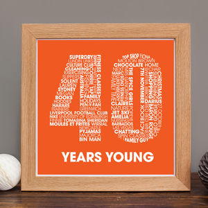 Personalised 40th Birthday Print - best for birthdays
