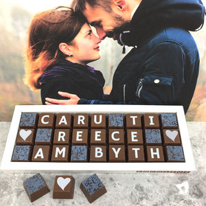 Personalised Welsh Love You Forever Chocolate Gift - new in food & drink