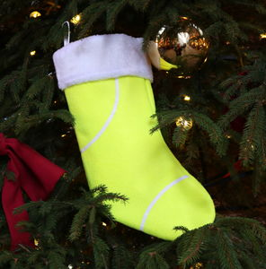 Genuine Tennis Ball Christmas Stocking
