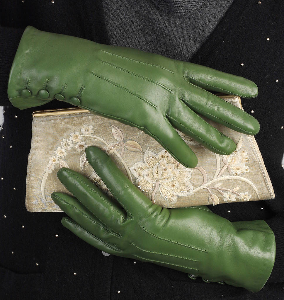 69638b227 kate. women's silk lined button leather gloves by southcombe gloves ...
