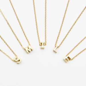 18ct Gold Floating Mini Initial Necklace