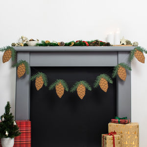 Pinecone And Spruce Christmas Bunting