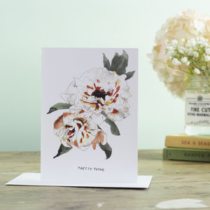 'Pretty Peony' Greetings Card - last-minute cards & wrap