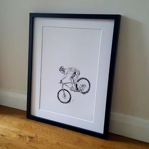 Mountain Biker Unframed Print