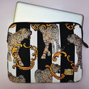 Striped Leopard Laptop Case In Gift Bag