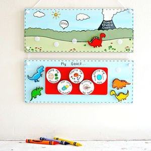 Personalised Dinosaur Reward Chart - children's pictures & prints