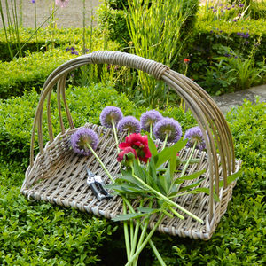 Natural Willow Flower Basket - storage & organisers