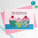 'Cupcakes' Personalised Girls Birthday Card