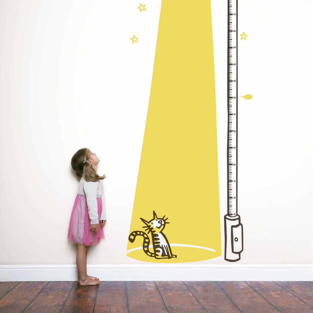 cat in the light children\'s height chart by wall art ...