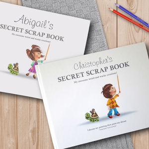 Personalised Secret Scrap Book In Deluxe Hardback - personalised