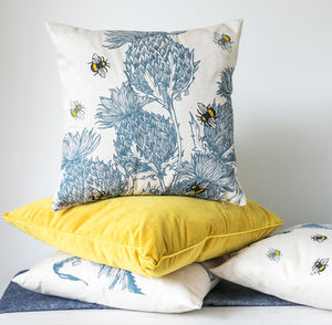 Scottish Thistles Cushion - bedroom