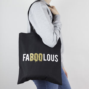 'Faboolous' Halloween Tote Bag - womens