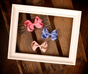 Small Hair Bow In Solid Colours And Dots - for children