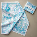 Tropical Island Treasure Map Hankie