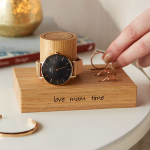 Personalised Ladies Ring And Watch Stand - watch storage