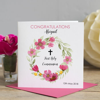 First Holy Communion Wreath Card
