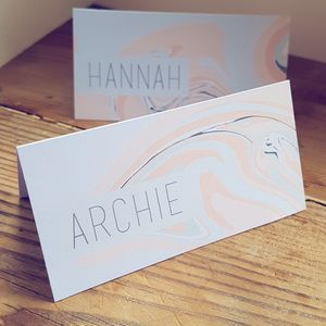 Pastel, Marble Name Place Cards