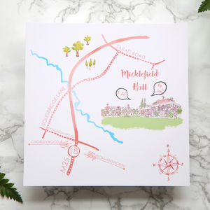 Bespoke Map To Wedding Venue