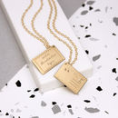 Personalised Engraved Postcard Necklace
