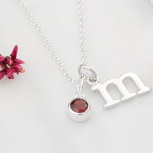 Garnet Necklace, January Birthstone - january birthstone