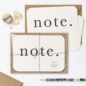 'Note' Postcards - blank cards