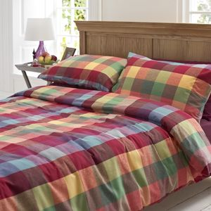 Colour Pop Cosy Brushed Cotton Duvet Set - bedding & accessories