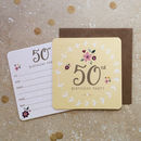 50th Birthday Party Coaster Invitations