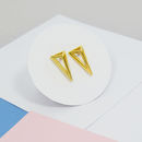 3D Abstract Triangle Stud Earrings