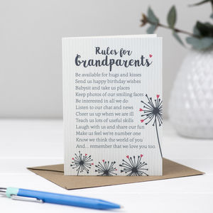 Poem Card For Grandparents