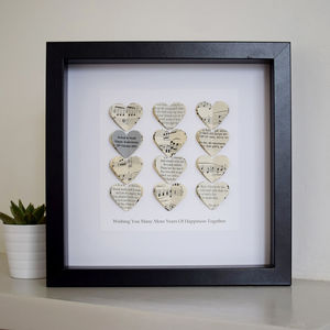 Personalised Silver Anniversary Framed Picture