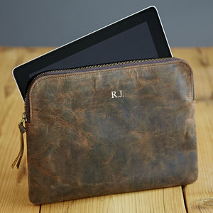 Personalised Buffalo Leather iPad Case