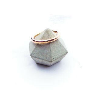 9ct Rose Gold Hammered Ring