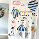 Personalised Organic Cotton Birthday Banner