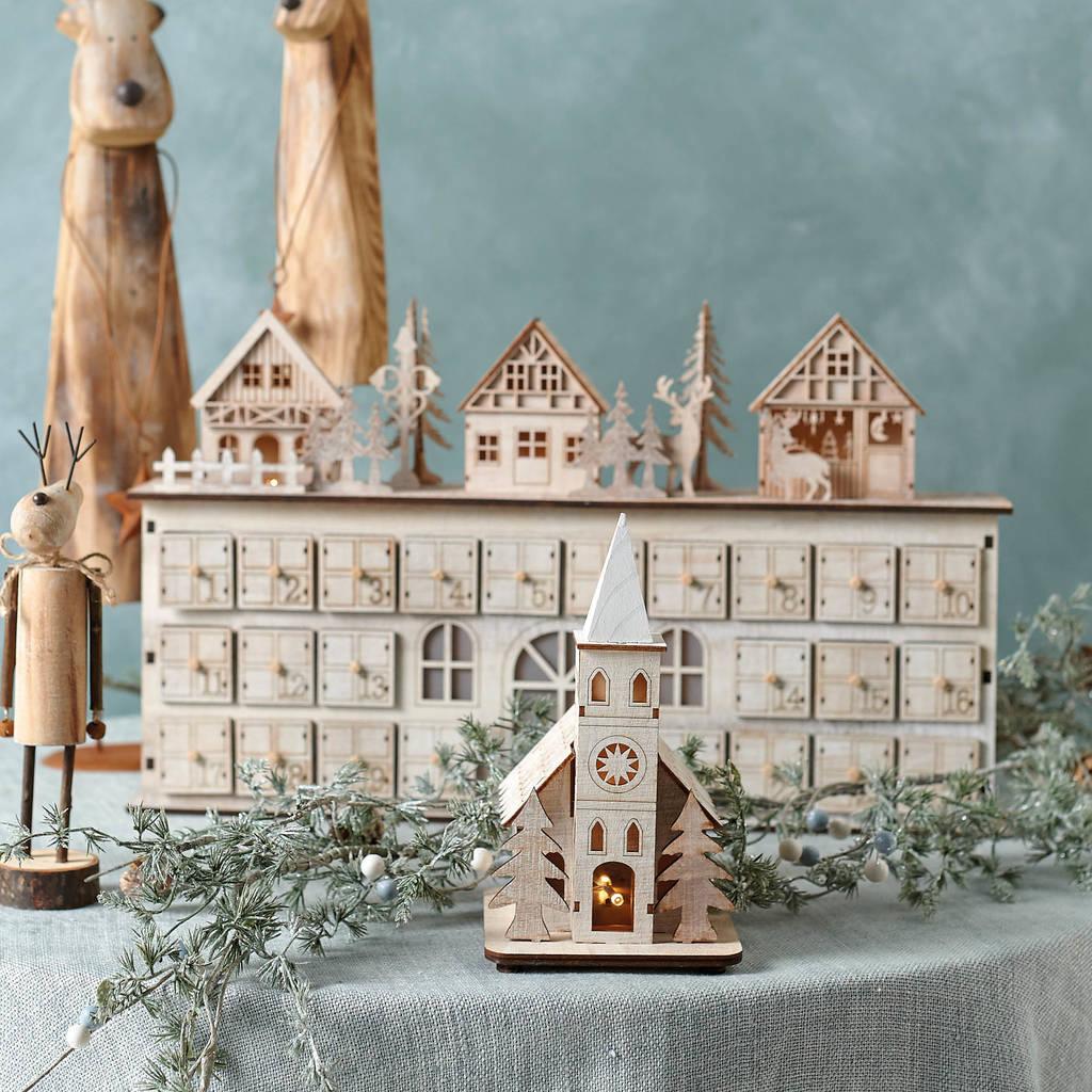 LED Village Christmas Advent Calendar