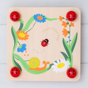 Personalised Wooden Ladybird Flower Press - traditional toys & games