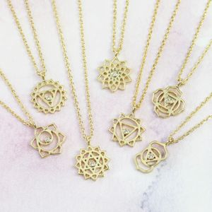 Chakra Pendant Necklace In Gold