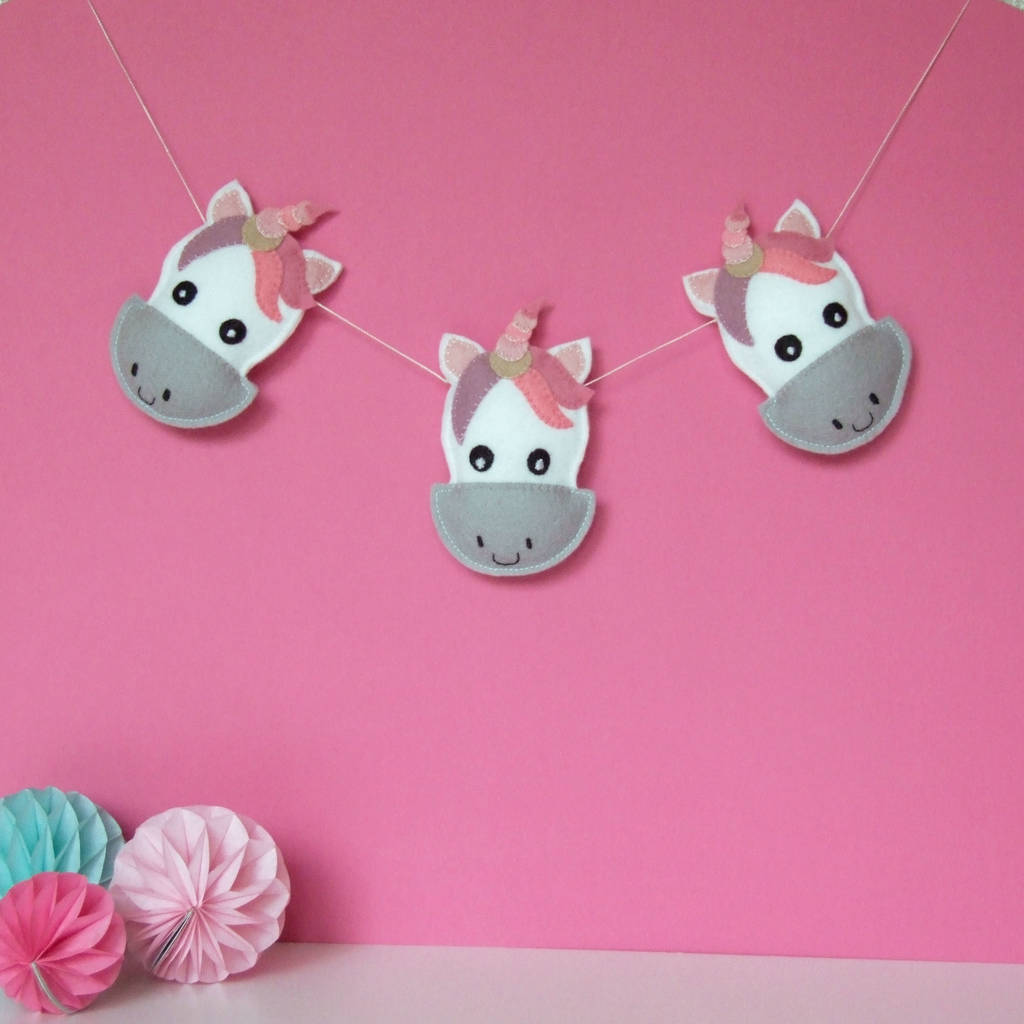 Unicorn Garland Nursery Decor